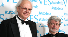 George Lucas and Dennis Muren